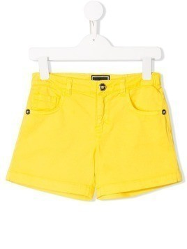 Young Versace classic denim shorts - Yellow