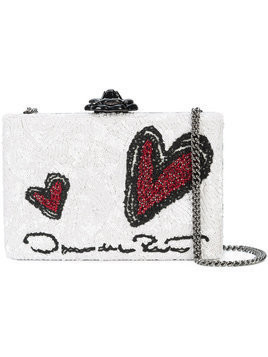 Oscar de la Renta - Rogan box clutch - Damen - Silk/Acrylic - One Size - White