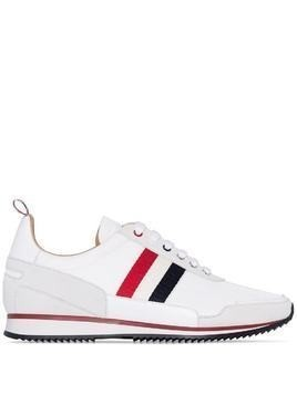 Thom Browne military ripstop jogger sneakers - White