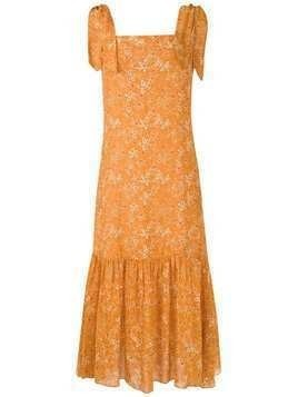 Clube Bossa Dorothea midi dress - ORANGE