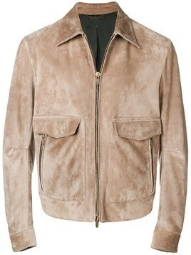 Ajmone fitted zipped jacket - NEUTRALS