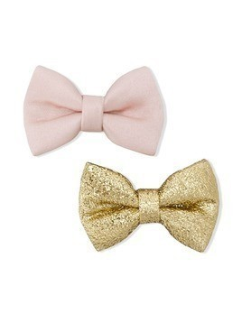 Hucklebones London bow hair clips - Gold