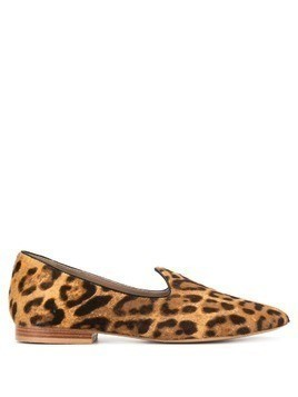 Le Monde Beryl leopard fur loafers - Brown