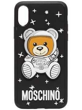 Moschino Black Bear and Logo Printed Iphone Case