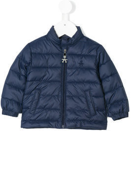 Le Bebé Enfant logo padded jacket - Blue
