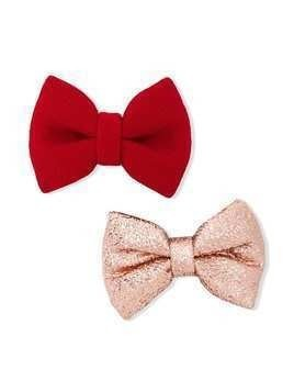 Hucklebones London bow hair clips - Red