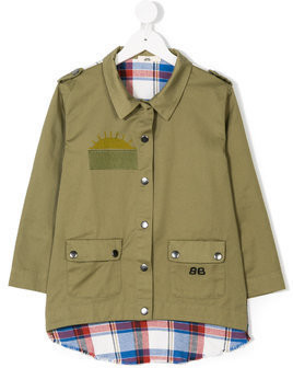 Bandy Button Trip coat - Green