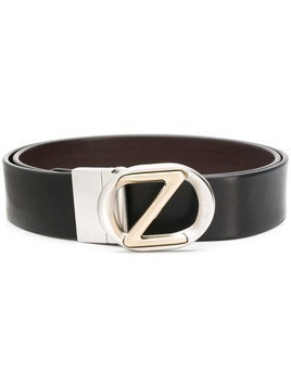 Ermenegildo Zegna logo-buckle belt - Black