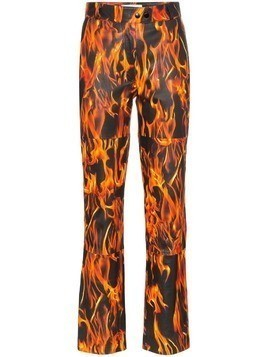 Marine Serre flame print trousers - Black