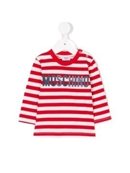 Moschino Kids striped T-shirt - Red