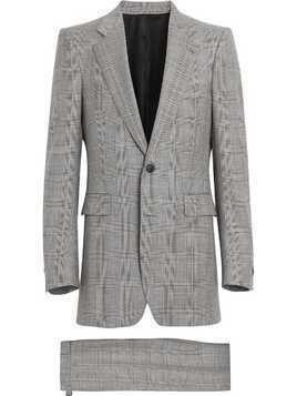 Burberry Slim Fit Prince of Wales Check Wool Cashmere Suit - Grey