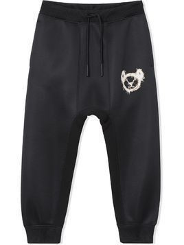 Burberry Kids Thomas Bear dropped-crotch track pants - Black