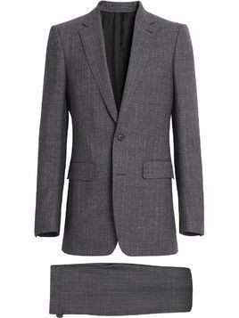 Burberry Slim Fit English Pinstripe Wool Suit - Grey