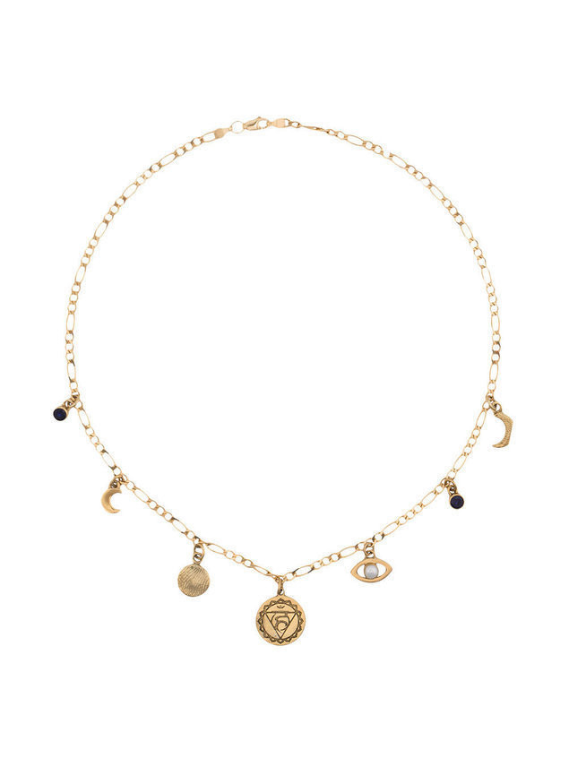 Cornelia Webb gold plated sterling silver Chakra pearl necklace - Metallic