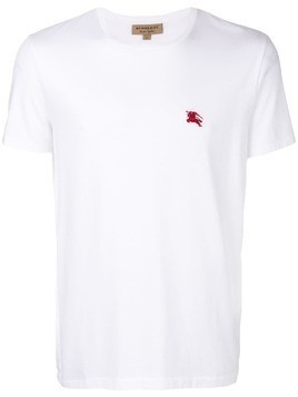 Burberry embroidered logo T-shirt - White