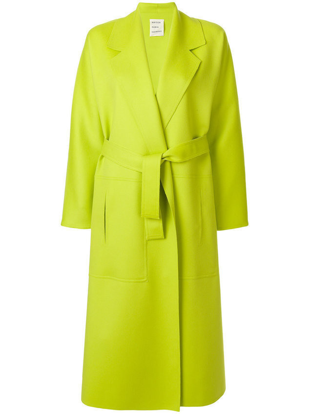 Maison Rabih Kayrouz long belted tailored coat - Green
