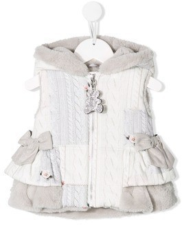 Lapin House bow detail gilet - Grey