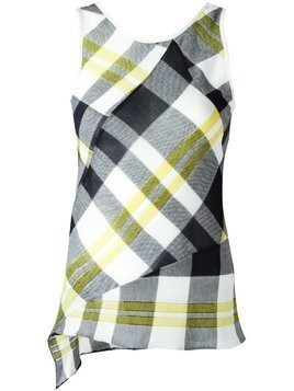 Stella McCartney checked top - Black