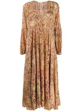 Mes Demoiselles paisley print maxi dress - Yellow