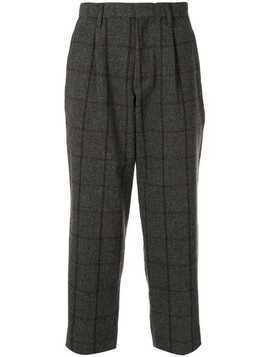 Kolor checked wool blend trousers - Grey
