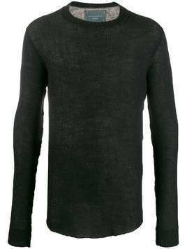 10Sei0otto long sleeve knitted jumper - Black