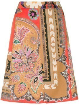 Etro patterned pleated skirt - Multicolour