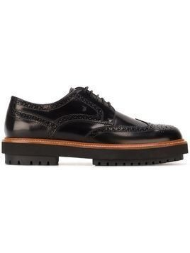 Tod's chunky sole brogues - Black