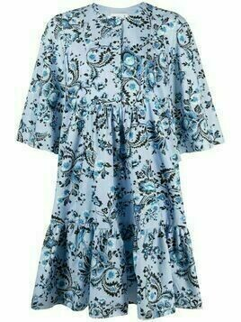 Erdem floral-print cotton dress - Blue