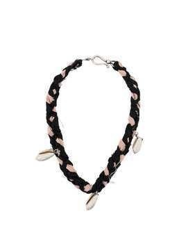 Giacobino shell pendant necklace - Black