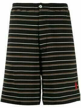 Marni striped cotton bermuda shorts - Black