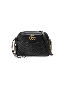 Gucci GG Marmont matelassé shoulder bag - Black