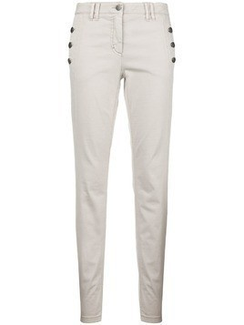 Luisa Cerano button detail slim-fit trousers - Grey