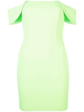 Jay Godfrey off-shoulder mini dress - Green