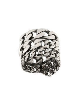 Emanuele Bicocchi stacked cable chain ring - SILVER