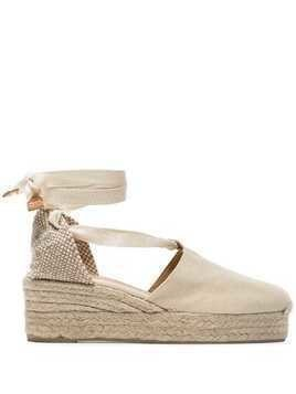 Castañer cream Campesina 30 canvas platform wedges - Neutrals