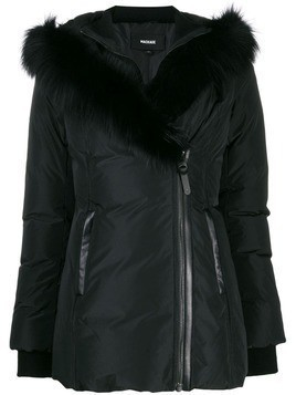 Mackage fox fur trim hooded jacket - Black