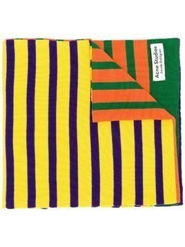 Acne Studios x Jacob Dahlgren colour-block striped scarf - ORANGE