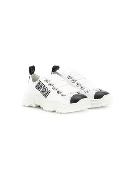 Nº21 Kids logo sneakers - White