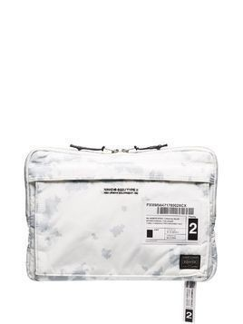 Neighborhood x Porter technical nylon pouch - White