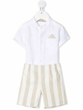 La Stupenderia two-piece cotton set - White