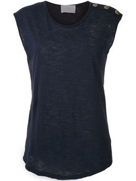 Andrea Bogosian decorative buttons tank - Blue