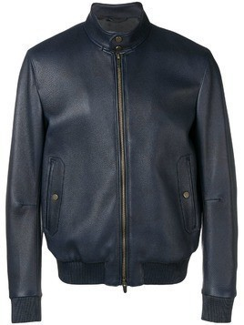 Ajmone fitted bomber jacket - Blue