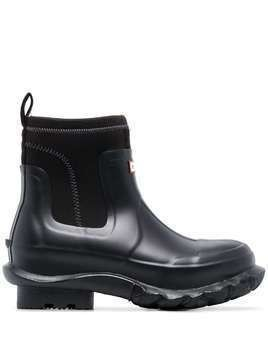 Stella McCartney X Hunter black rubber rain boots