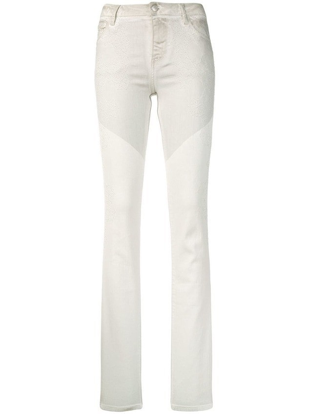 Zadig&Voltaire two-tone skinny jeans - White