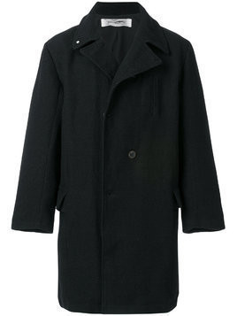 Individual Sentiments oversized double breasted coat - Black