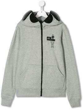 AI Riders on the Storm TEEN lens integrated hoodie - Grey
