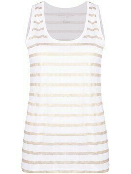 Majestic Filatures striped sleeveless tank top - White