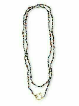 Andrea Fohrman 14kt yellow gold shooting star quartz bead necklace