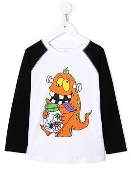 Stella McCartney Kids Halloween monster-print T-shirt - White
