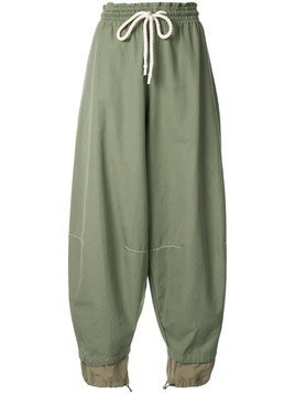 Bassike parachute trousers - Green
